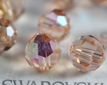 Promotion Item - 120pcs Swarovski Elements 5000 4mm Crystal Round Beads - LIGHT PEACH AB (While Stocks Last)