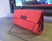 Bright Red Clutch--Be Mine Placemat Bag