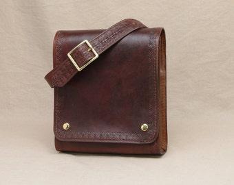 Small Messenger Bag - Dark Brown