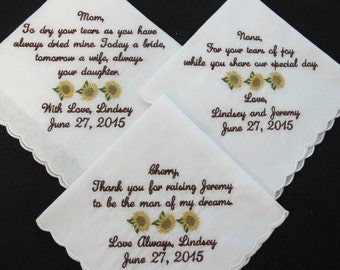 Embroidered Wedding Handkerchief for the Favorite Woman in your Family