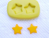 Little stars mold for Stud Earrings Flexible silicone mold for jewelry making, resin, FIMO, clay,