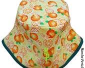 Orange-fruit, Green-Base Unisex Bucket Hat | Oranges | Slices of Oranges | Food Hat by Hamlet Pericles