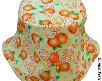 Orange-fruit Unisex Bucket Hat | Oranges | Nature | Slices of Oranges | Food Hat by Hamlet Pericles | HP81715a