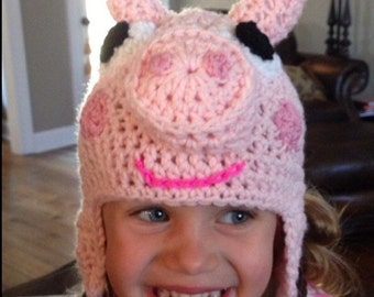 Peppa Pig inspired hat (ages 2-5)
