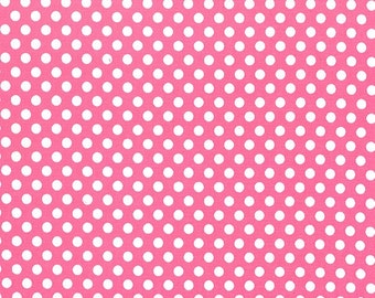 Michael Miller Fabric by the yard Kiss Dot in Blossom 1 yard