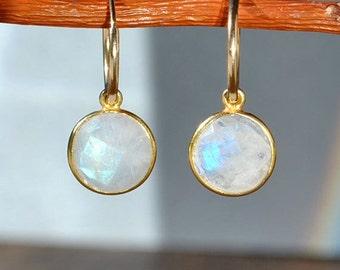 SALE Rainbow Moonstone Earrings - June Birthstone Jewelry