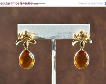 SALE Citrine Earrings - November Birthstone - Citrine Jewelry
