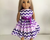 Custom Order for Maggie, 20 Orange, White and Purple Dresses with Sashes for the American Girl Doll