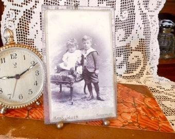 Vintage Photo Frame Beveled Glass Vintage Photograph Germany Circa 1930s Photo Picture Easel