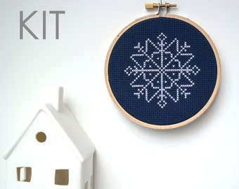 Snowflake Ornament | Modern cross stitch KIT