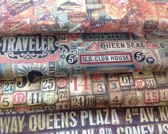 Tim holtz eclectic elements collection 4 designs available cotton craft fabric by the half metre