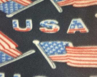 USA Flag Polar Fleece Fabric by the yard