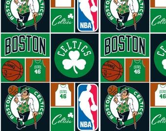 NBA Boston Celtics Cotton Fabric by the yard