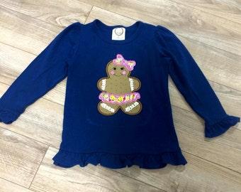 Gingerbread Girl Appliquéd Shirt