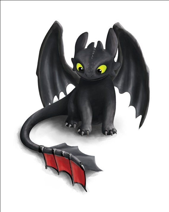 toothless inspired dragon how to train your dragon printable