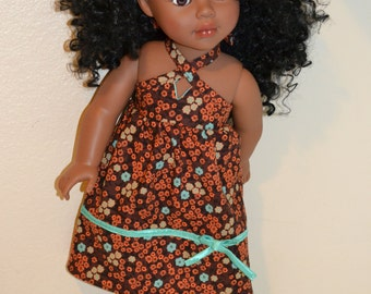 Pretty dress, shoes and headband for 18 inch doll