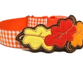 Fall Leaves Felt Dog Collar Add-on For Dog Collar