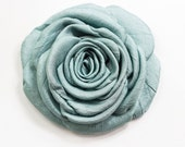 Blue Mint Fabric Rose - 100% handmade  - brooch /hair clip MADE TO ORDER