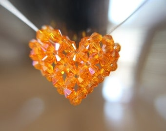 Swarovski Crystal Puffy Heart Necklace