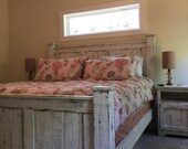 King size bedroom set (2) piece ( king size bedframe and pair of side tables