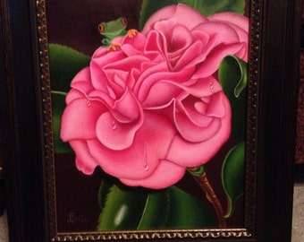Camelia in Pink with Frog