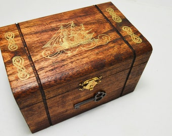 Ship Keepsake Chest