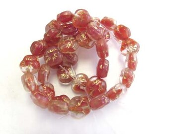 Czech Crystal Brown Pressed Glass Beads