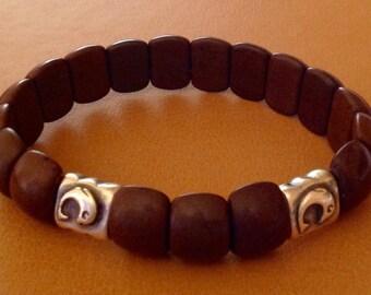 Men's Brown Stretch Bracelet