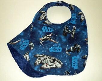 Star Wars Baby Bib And Burp Cloth, Star Wars Baby Gift, Bib And Burp Pad Set, Minky Bib, Terry Cloth, Geek Baby, Baby Shower, Made To Order