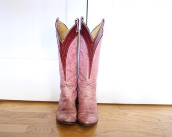Size 5.5 Pink Cowgirl Cowboy Boots Tony Lama