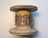 Vintage AB Rhinestone Cuff Bracelet