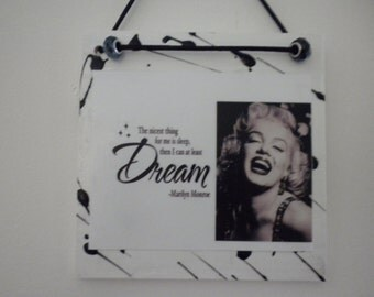 ON SALE Marilyn Monroe Quote Wall Plaque
