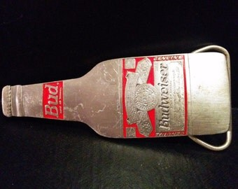 Budweiser Beer Vintage Bottle Belt Buckle