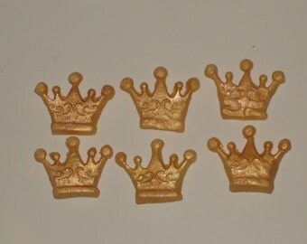 Gumpaste Princess Crown Cupcake Toppers for Cakes, Cookies, Cake Pops,  Birthdays