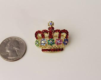 Vintage unsigned  Royal Crown Brooch Pin