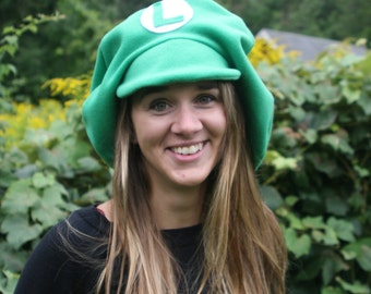 Mario Brothers Inspired-ADULT Cosplay LUIGI Hat