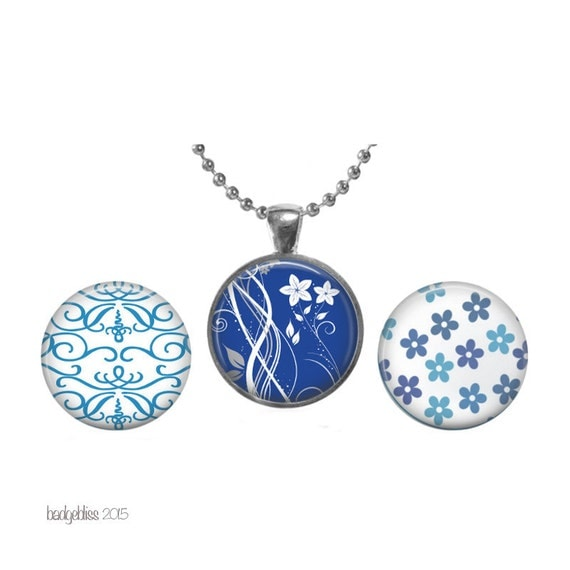 interchangeable magnet pendant necklace china blue by