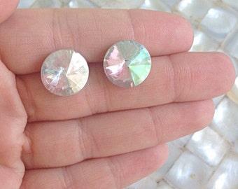 Prism Stud Earrings Rhinestone Crystal Swarovski