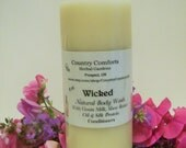 Wicked Natural Body Wash - New Fragrance For 2015 - Goats Milk, Shea Butter Oil, Silk Protein Conditioners - 8 oz bottle