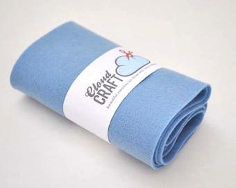 100% Pure Wool Felt Roll - Light blue - 12x90cm - 'Forget-me-not'