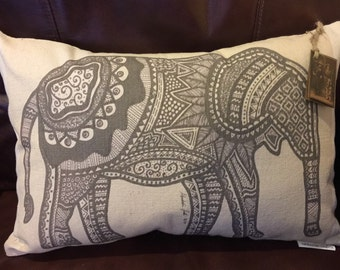 Tribal Elephant Pillow