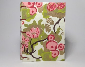 Made to Order - Red Cherry Blossom Journal - Lined Pages