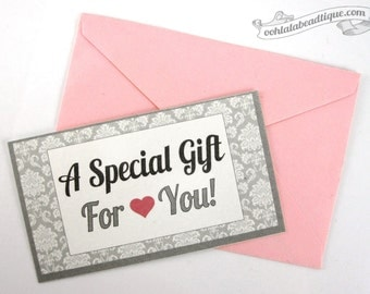 Personalized Gift Card With Envelope Add-On, Add a Hand-Written Card to your order, Gift Note Addon, Personalized Note, Personalized Card