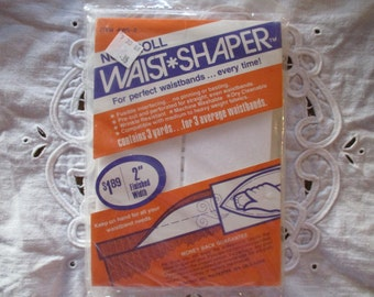 """Vintage Fusible Interfacing Waist Shaper for Waistbands 3 Yard Package 2"""" wide pre-cut Dated 1978 New in Package"""
