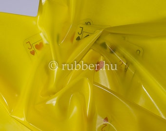 Latex sheet: Translucent yellow 0,25mm thickness - 50cm x 90cm (more available)