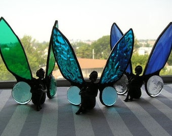 Stained Glass Art Fairy Stained Glass Fairy Ocean Beach Colors Window Decoration Art & Collectibles Glass Art Handcrafted Made in USA