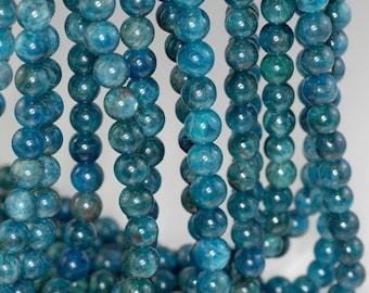8-9mm Apatite Gemstone Grade A Round 8-9mm Loose Beads 15.5 inch Full Strand (90184212-853)