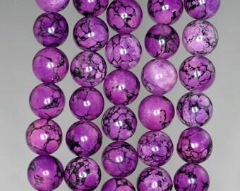 10mm Purple Turquoise Gemstone Round 10mm Loose Beads 16 inch Full Strand (90186724-769)