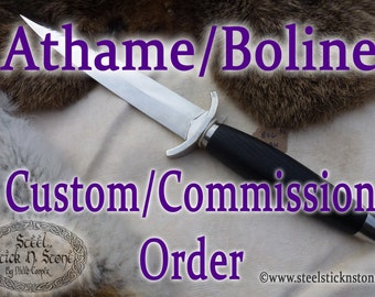 COMMISSION a Custom Handmade Athame or Boline Witchcraft Pagan