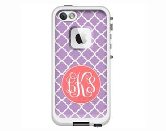 Monogrammed LifeProof Fre or Nuud for iPhone 6 Plus, iPhone 6, iPhone 5/5s, iPhone 5c Phone Case - Clover Pattern Custom Printed Case